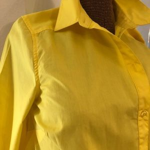 Sporty used bright yellow Cotton Dress